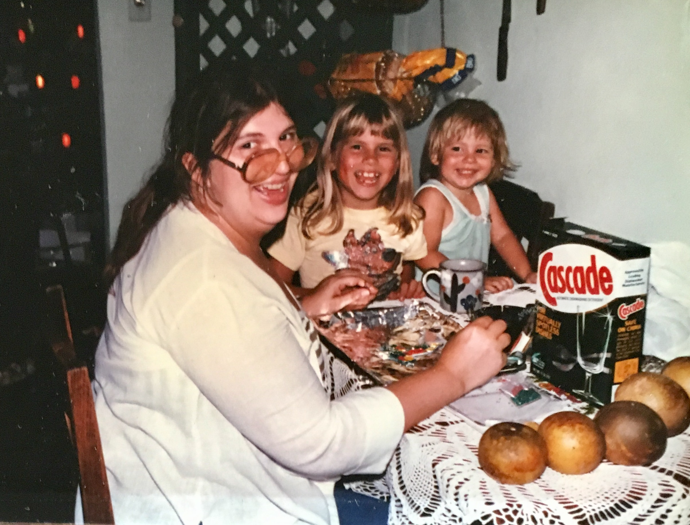 My mom, sister, and I - 1983